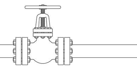 Illustration of the pipeline valve stopcock