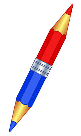 Illustration of the double color pencil icon