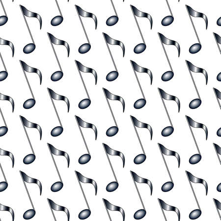 Seamless pattern of the abstract musical note symbols