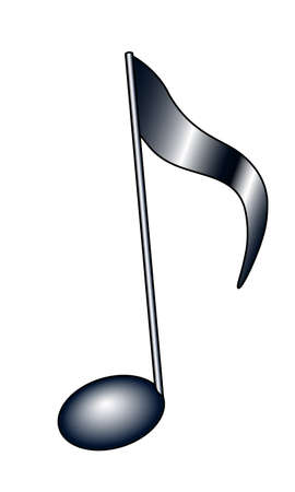 Illustration of the abstract musical note symbol Ilustracja