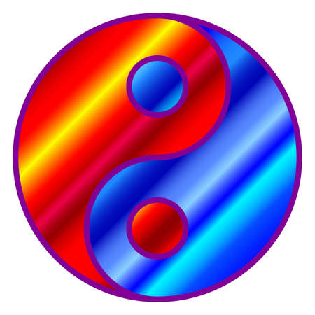 Illustration of a concept abstract yin and yang symbol