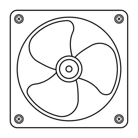 Illustration of contour computer fan Ilustracja