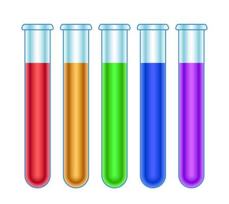 Illustration of the test tube set