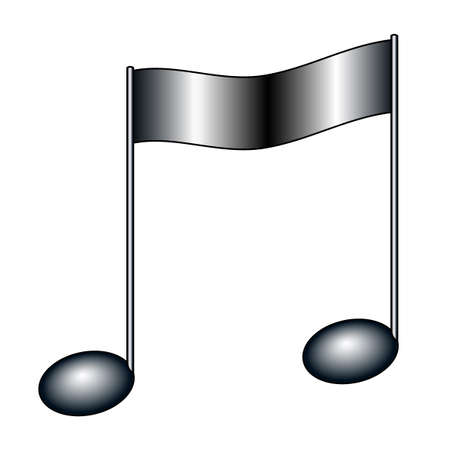 Illustration of the musical beamed note symbol