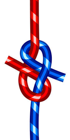 Illustration of the abstract cord knot icon Ilustracja