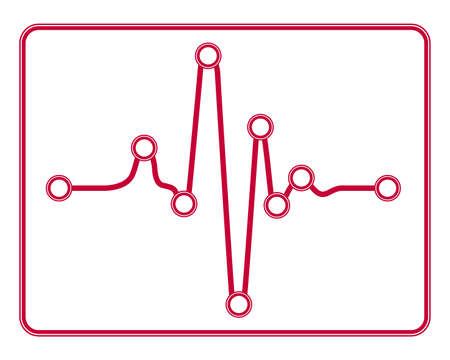 Illustration of the abstract electrocardiograms infographic icon