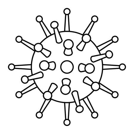 Concept illustration of the contour abstract coronavirus icon. Novel coronavirus 2019-nCoV