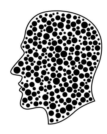 Illustration of the abstract human profile head