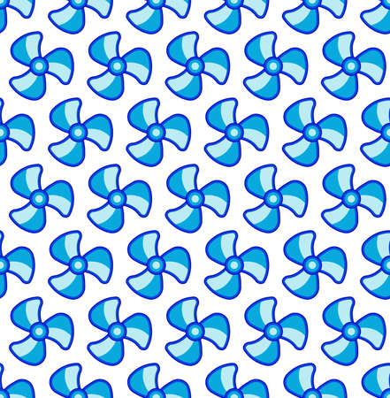 Seamless pattern of three-bladed fans