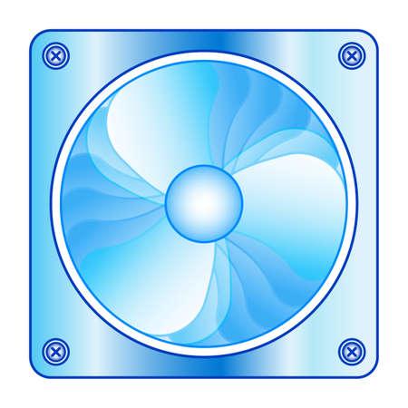 Illustration of computer spinning fan