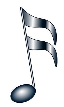 Illustration of the abstract musical semiquaver note symbol