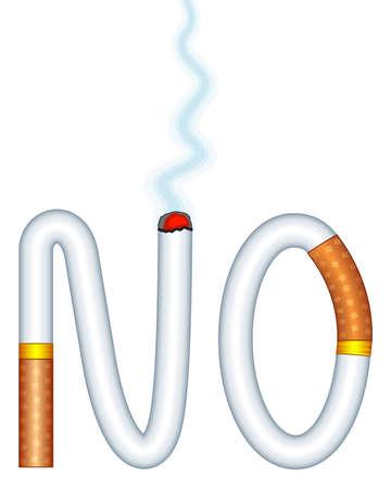 Concept illustration of the forbid smoking cigarettes