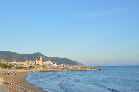 sitges: View beach in Sitges, Catalonia Spain