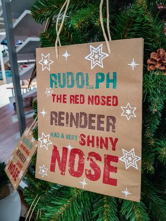 Reindeer Rudolph Christmas decoration xmas.