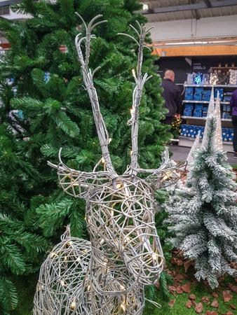 Reindeer Rudolph doll Christmas decoration.