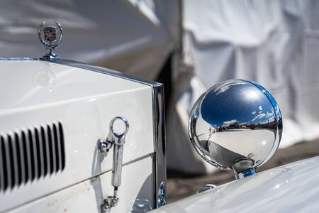 Cadillac Excalibur in montjuic spirit Barcelona circuit car show. Editorial