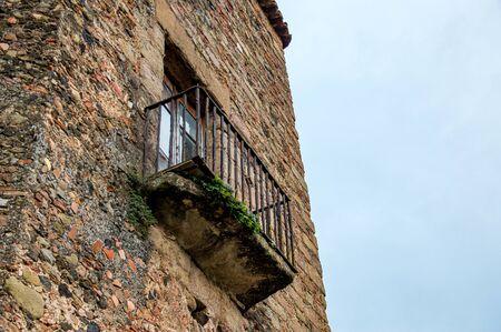 Santa Pau village in Girona, Catalonia, Spain Reklamní fotografie