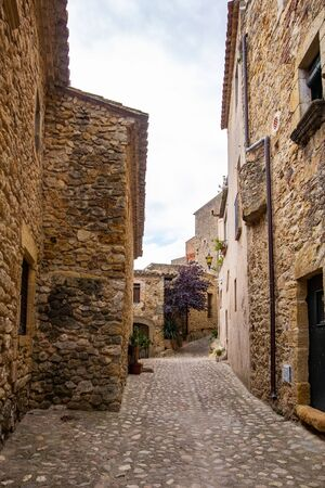 Old town of Pals in Girona, Catalonia, Spain
