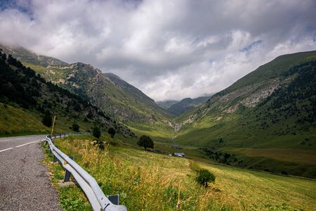 Observation deck Roc Del Quer, Andorra Foto de archivo