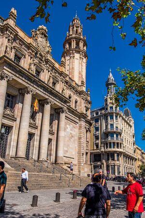 Post office building in Barcelona, Catalonia, Spain