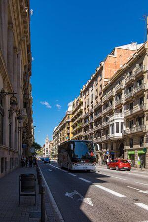Via Laietana street in Barcelona, Catalonia, Spain Stock fotó