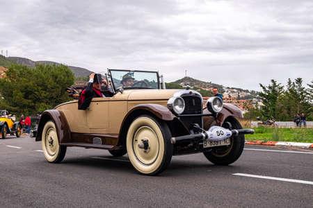 MARCH 2018: Nash, 60 Th edition international vintage car rallye Barcelona Sitges