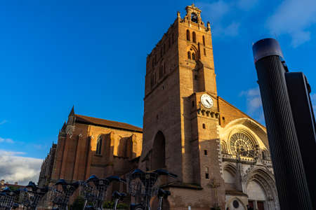 Cathedrale Saint Etienne in Toulouse, France. 免版税图像