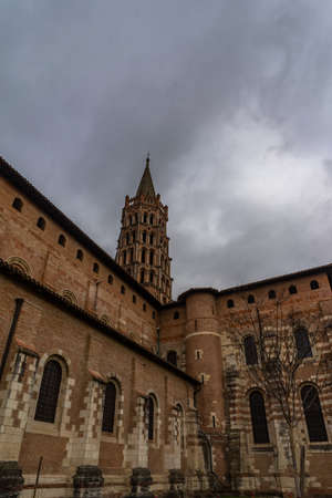 Basilique Saint-Sernin de Toulouse in France. 免版税图像
