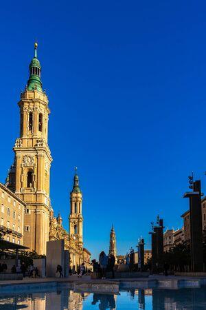 Basilica de Nuestra Señora del Pilar Cathedral in Zaragoza, Spain