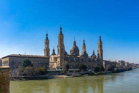 Basilica de Nuestra Señora del Pilar Cathedral in Zaragoza, Spain.