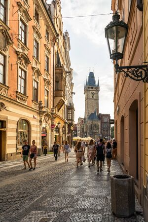 Old Town district of Prague in Czech Republic