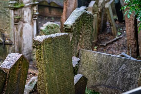 Old Jewish Cemetery Prague in Czech Republic