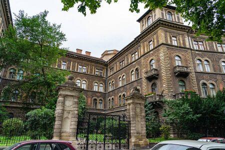 Andrassy famous Avenue in Budapest, Hungary Stock Photo