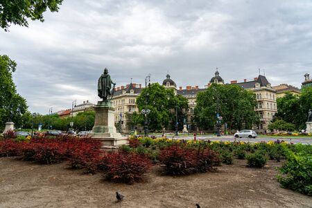 Andrassy famous Avenue in Budapest, Hungary
