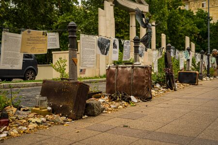 Memorial to the victims of the German occupation in Budapest, Hungary