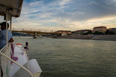 Margaret Bridge in Budapest, Hungary 版權商用圖片