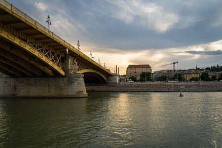 Margaret Bridge in Budapest, Hungary