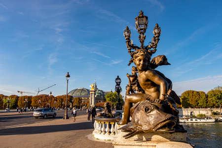 Pont Alexandre III in Paris, France Editorial