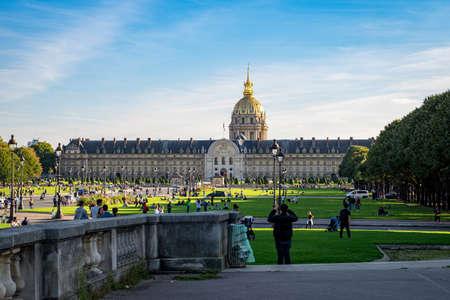 Esplanade des Invalides in Paris, France Publikacyjne