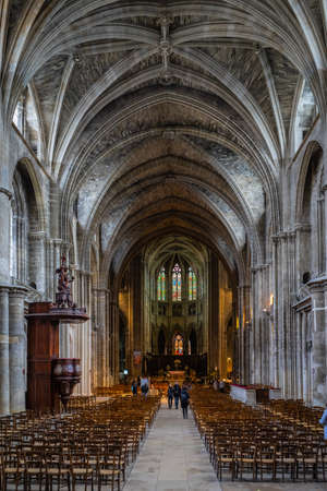 Cathedrale Saint Andre interior in Bordeaux, France.