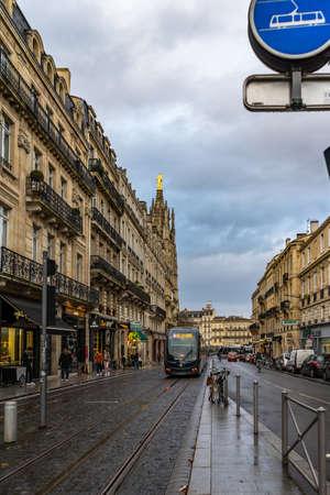 Cours Pasteur street in Bordeaux, France. 新闻类图片