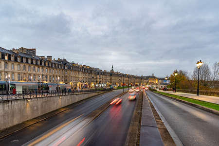 Street view in Bordeaux city, France.