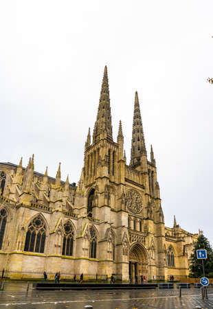 Cathedrale Saint Andre and Pey Berland Tower in Bordeaux, France.