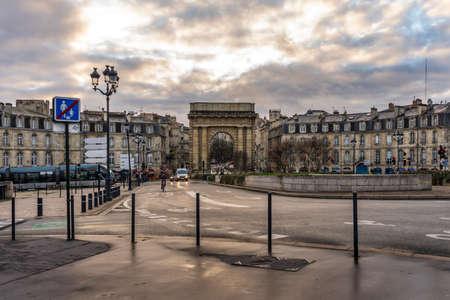 Porte de Bourgogne in Bordeaux, France.