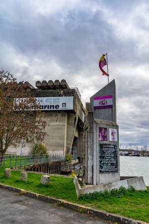 Base sous marine in Bordeaux, France. 新闻类图片