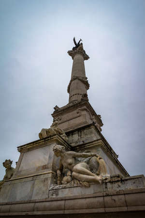 Monument aux Girondins in Bordeaux, France. 新闻类图片