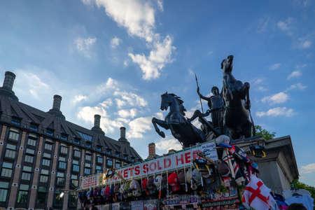 Boudiccan Rebellion in London, UK. 新闻类图片