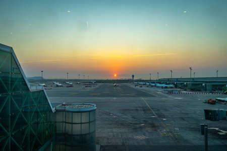 El Prat airport in Barcelona, Catalonia, Spain. 新闻类图片
