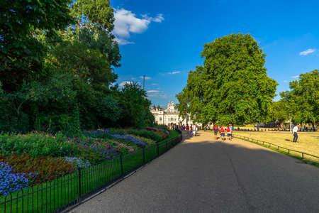 St james park in London, UK.