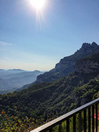 View of Montserrat mountain in Barcelona, Catalonia, Spain